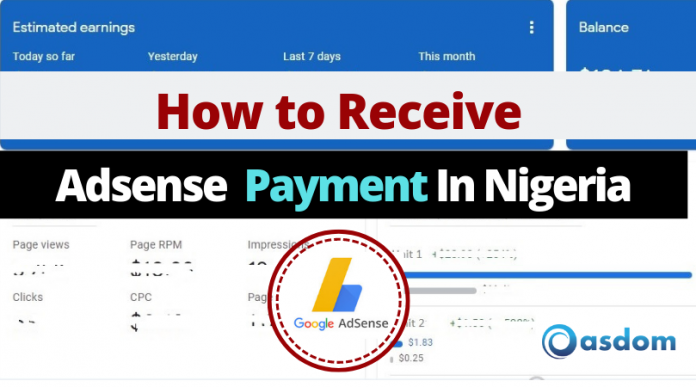 Oasdom How to Receive Adsense Payment in Nigeria
