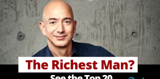 Who is the richest man in the world right now? The world's richest person is Jeff Bezos