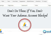 Don't Want Your Adsense Account Blocked