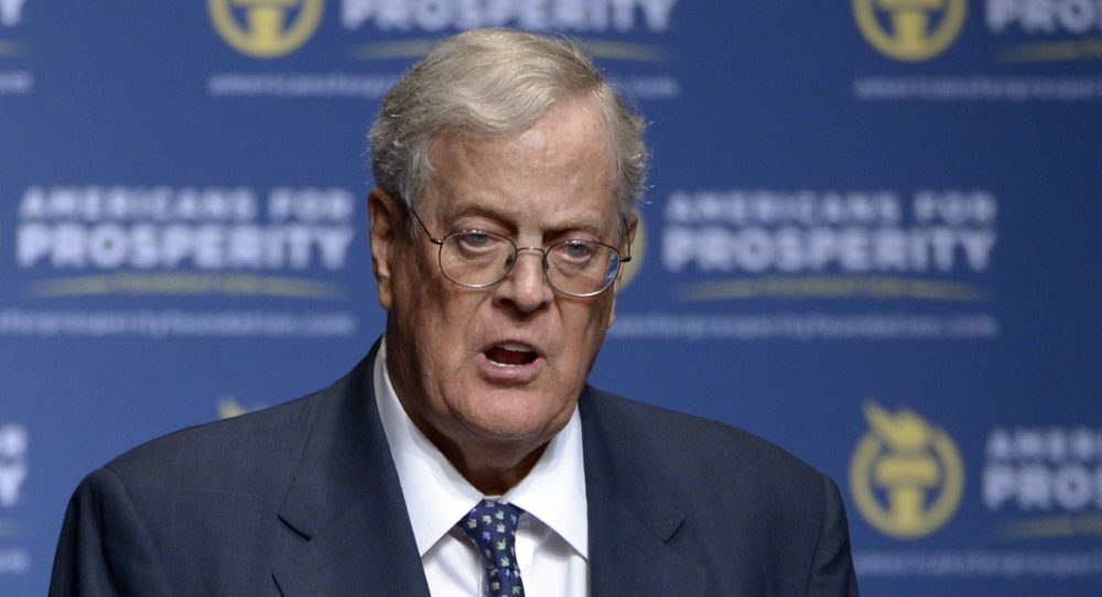 Rich man - David Koch - one of the top ten richest people in the world