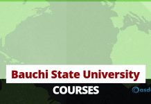 Bauchi State University Courses and Programmes
