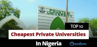 Oasdom List of top 10 cheapest private Universities in Nigeria and their fees today
