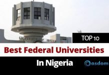 Oasdom list of top 10 best federal universities in Nigeria