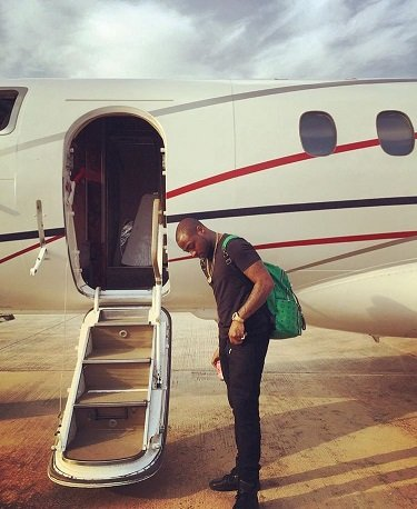 pictures of Davido Private jet