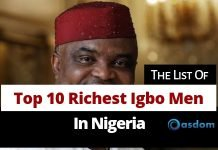 the full list of top 10 richest igbo men in Nigeria today