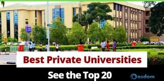 top 20 best private university in Nigeria and their location