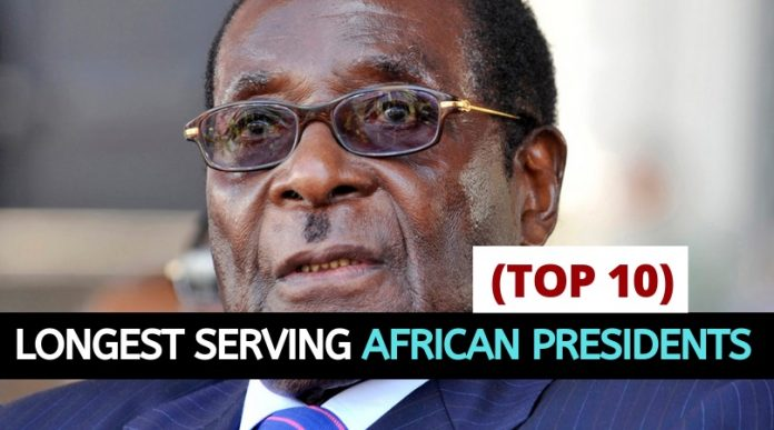 Top 10 longest serving African Presidents today