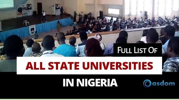 cropped Oasdom Full list of state universities in Nigeria and their courses and location
