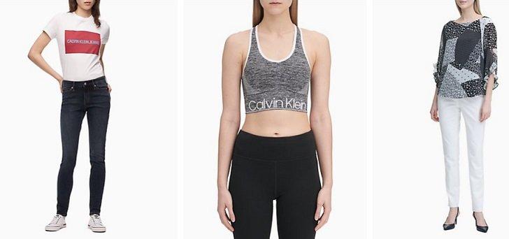 Calvin Klein women clothing brand list a-z