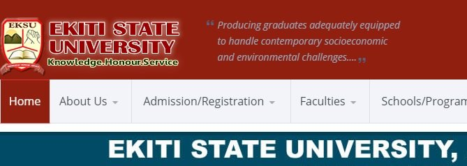 EKSU portal - official website of ekiti state university