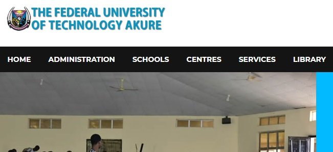 Federal university of technology Akure FUTA portal - official website
