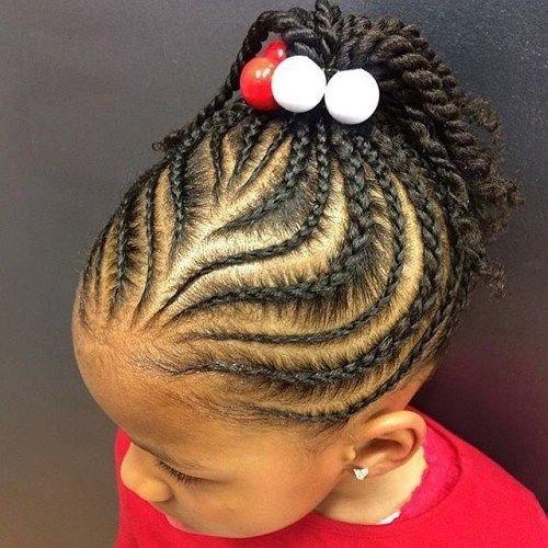 Ghana weaving hairstyle for children