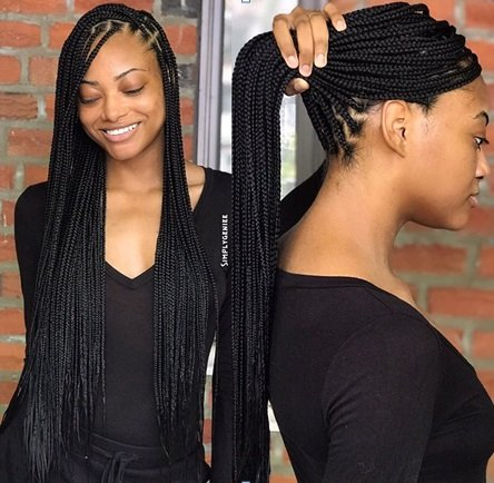 Latest braids hairstyle in Nigeria today