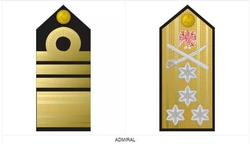 Admiral - second highest ranking officer of the Nigerian Navy