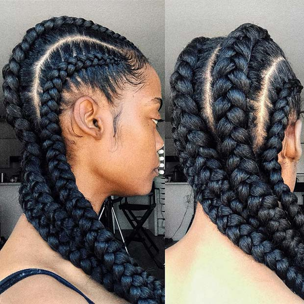 Big Ghana Cornrows latest ghana weaving hairstyles in Nigeria