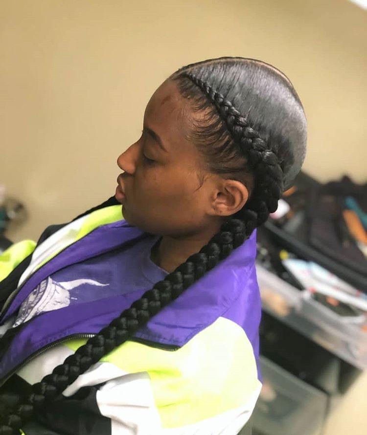 Dual effect Ghana braids