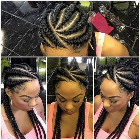 Elevated braiding - ghana weaves