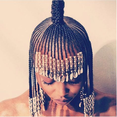 Fringe braids - Latest Nigerian braids hair styles
