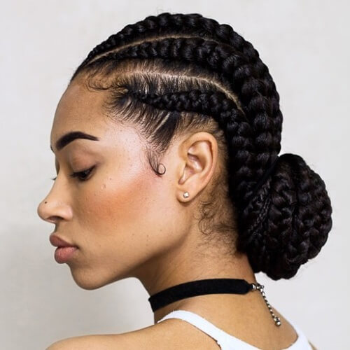Latest ghana weaving hairstyles in Nigeria - Bulky Braids