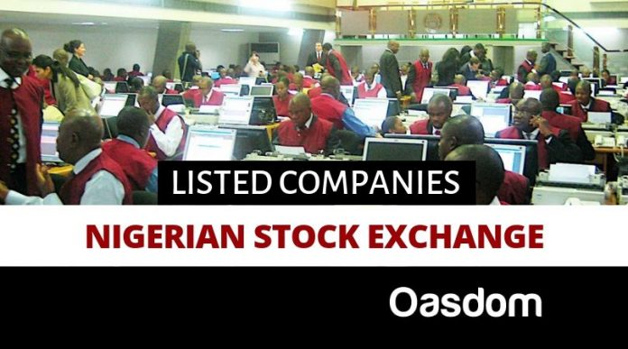 Nigerian stock exchange listed companies