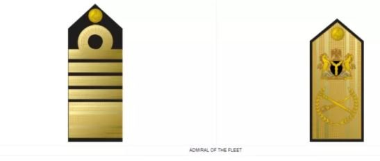 Admiral of the Fleet badge - ranks in the Nigerian Navy