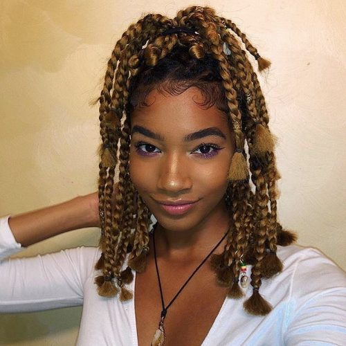 Blond braids ghana weaving hairstyles