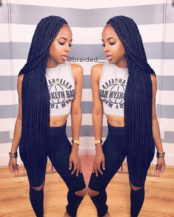 Pictures of latest Nigerian braids hair styles