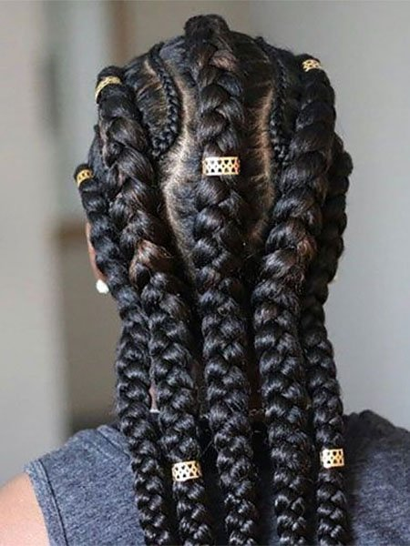 Thick and Thin Asymmetrical Feed In Braids
