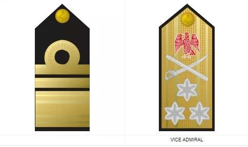 Vice Admiral - commissioned Nigerian navy ranks