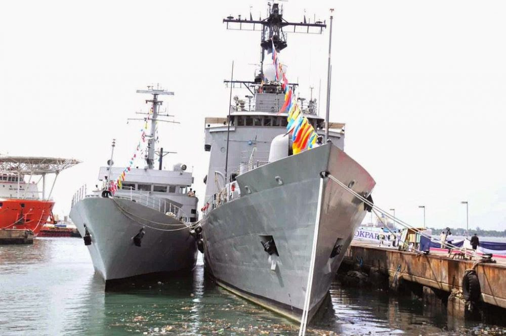 Warship of the Nigerian navy