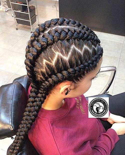 zig zag gahana weaving hairstyle in Africa