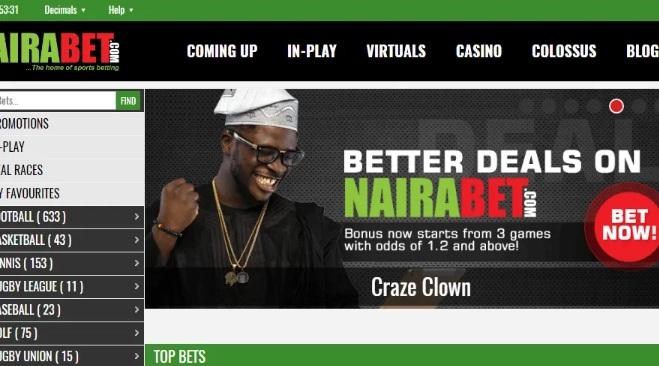 Naira betting app in Nigeria