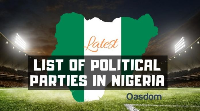 Oasdom Full list of political parties in Nigeria and their logo