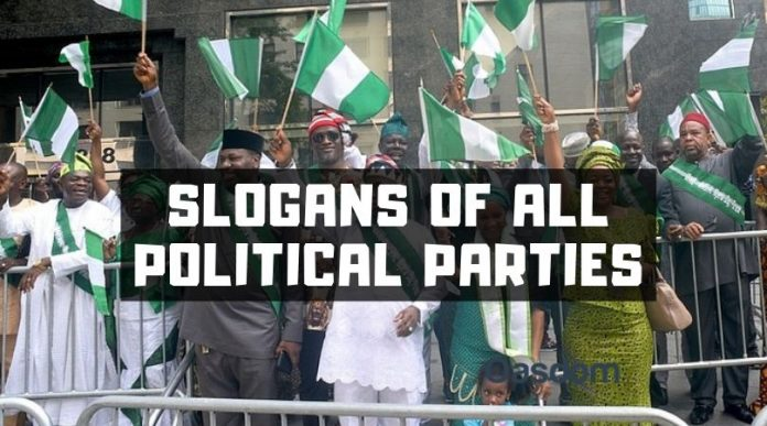 Slogans of political parties in Nigeria