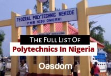 The Full list of polytechnics in Nigeria