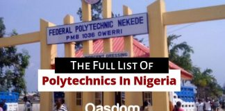 Oasdom The Full list of polytechnics in Nigeria