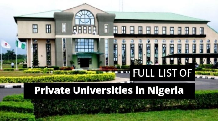 Oasdom full list of private universities in Nigeria