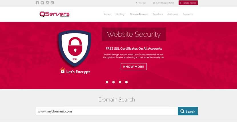 Qservers web host service