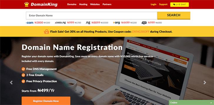 domain king web hosting in Nigeria