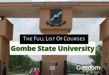 Gombe state university courses
