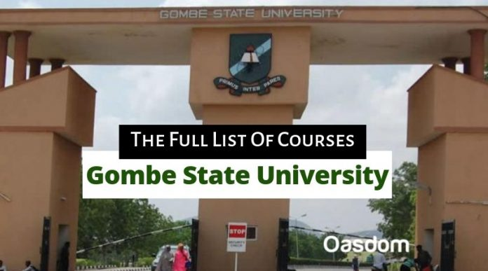 Gombe state university courses