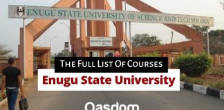 Oasdom ESUT courses Enugu State University