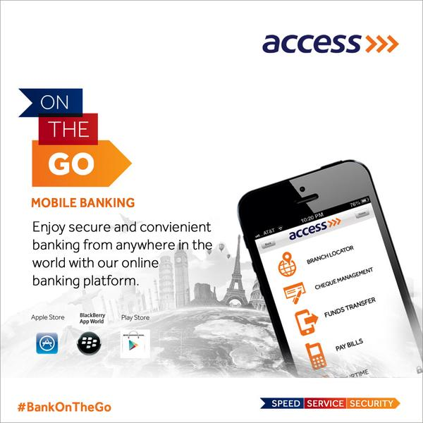 Access mobile banking app