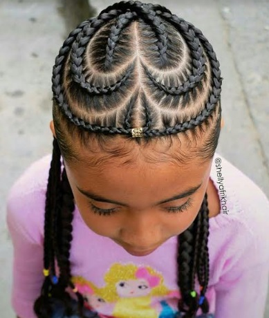 Beautiful curly nigerian children hairstyle for school
