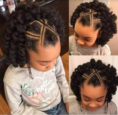 Beautiful party hairstyle for Nigerian children