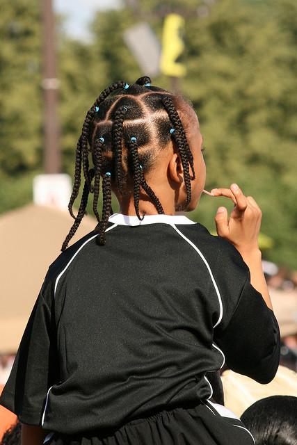 Calabar hair weaving style for school children