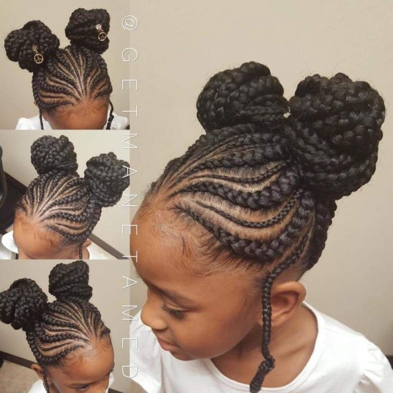 Children party hair style