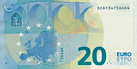Image of European Euro Currency and symbol