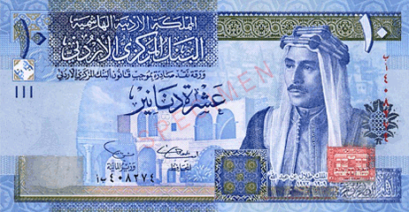 Jordan Dinar JOD countries and their currencies
