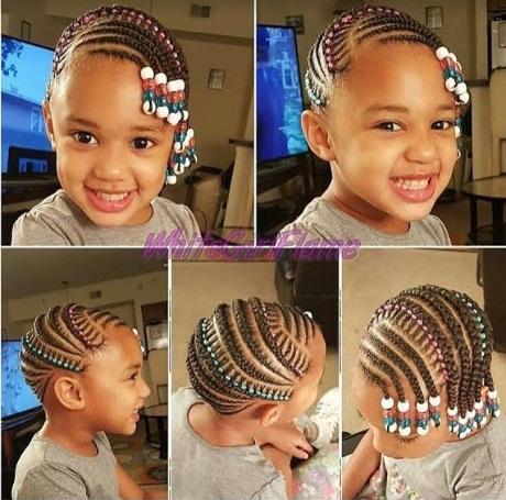 Photo of Nigerian children hairstyles with bids